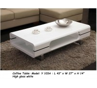 19073 White Glossy Coffee Table