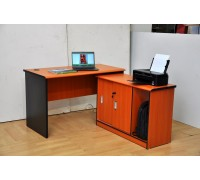 Logan Study Table with L side Cabinet