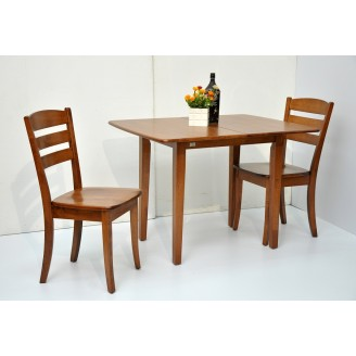 Solid Wood Dining Table Set (Extendable with 2pcs Chair)